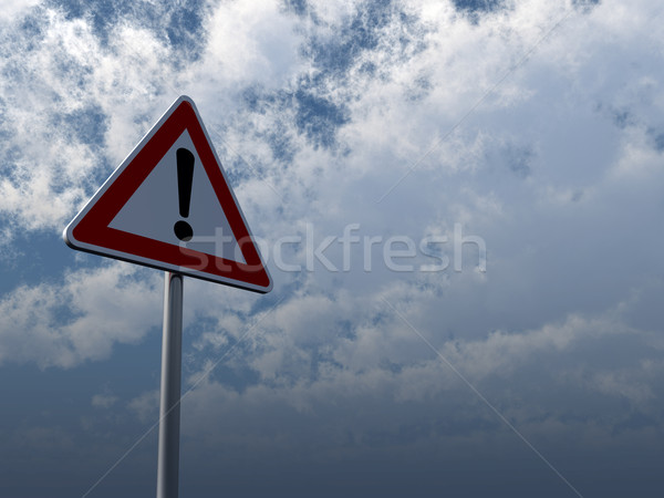 attention roadsign Stock photo © drizzd