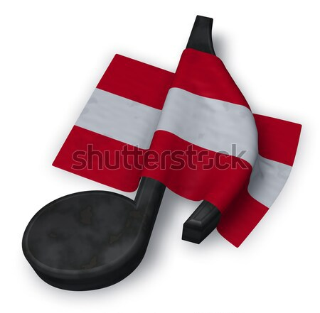 music note and danish flag - 3d rendering Stock photo © drizzd