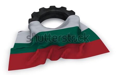 Narzędzi koła banderą 3D budowy Zdjęcia stock © drizzd