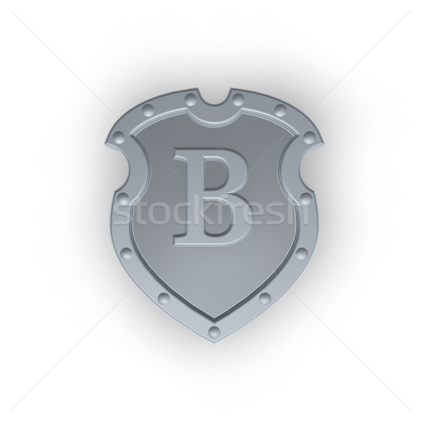 shield with letter B Stock photo © drizzd