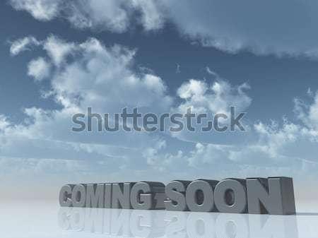 Zestig chroom aantal 60 donkere bewolkt Stockfoto © drizzd