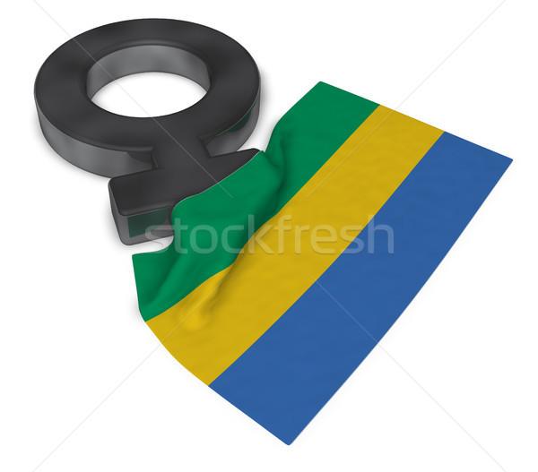 женщины символ флаг Габон 3D Сток-фото © drizzd