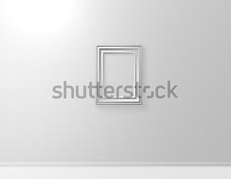 Quadro branco parede ilustração 3d quarto pintura Foto stock © drizzd