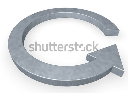 Cappio ciclo bianco illustrazione 3d metal segno Foto d'archivio © drizzd