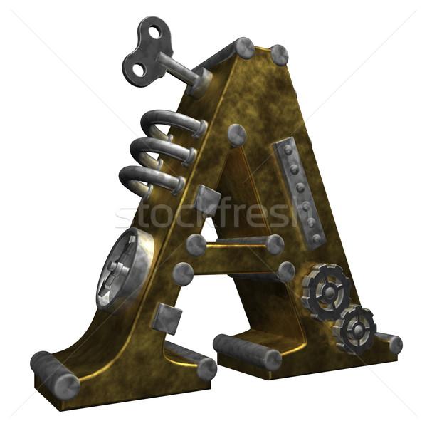 Steampunk levél fehér 3d illusztráció absztrakt terv Stock fotó © drizzd