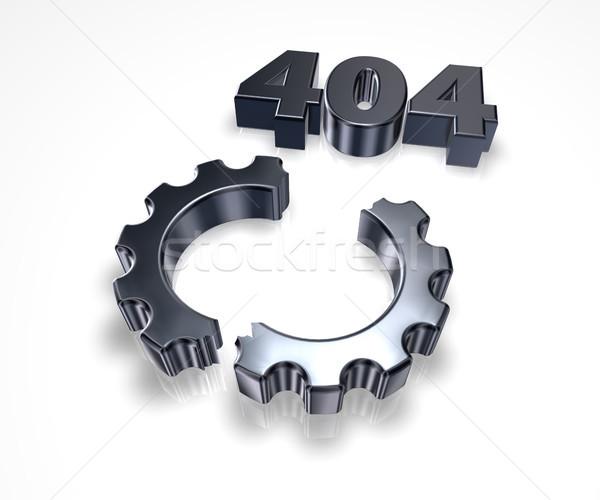 Hiba 404 oldal nem üzenet törött Stock fotó © drizzd