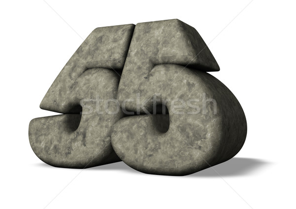 Zahl fünfzig fünf Stein weiß 3D-Darstellung Stock foto © drizzd