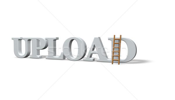 アップロード 言葉 はしご 3次元の図 コンピュータ 技術 ストックフォト © drizzd