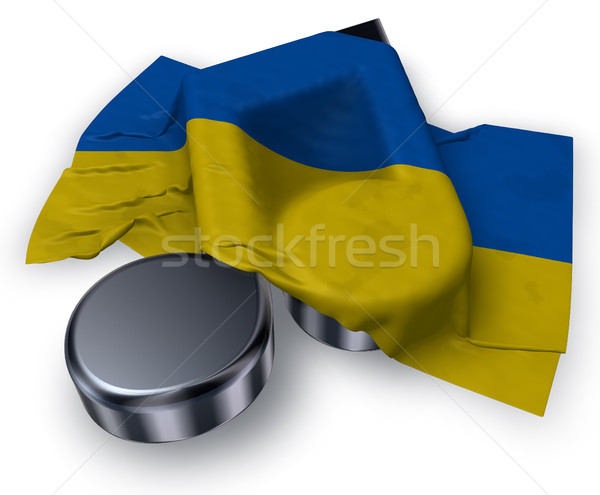 music note symbol and flag of the ukraine - 3d rendering Stock photo © drizzd