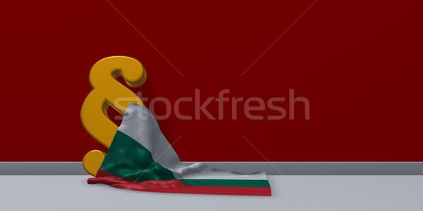 Bekezdés szimbólum zászló 3D renderelt kép felirat Stock fotó © drizzd