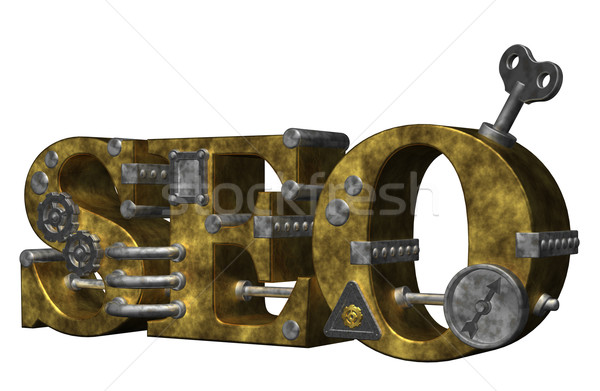 Seo Retro endüstriyel harfler beyaz 3d illustration Stok fotoğraf © drizzd