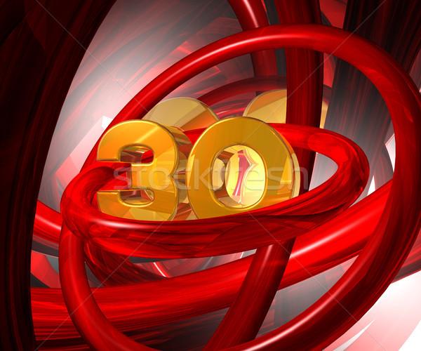 Altın otuz numara soyut fütüristik uzay Stok fotoğraf © drizzd