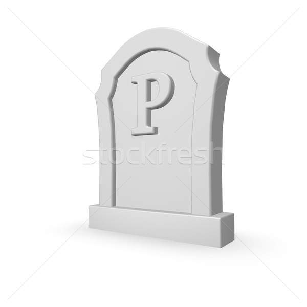 Pierre tombale blanche 3d illustration mort lettre Photo stock © drizzd