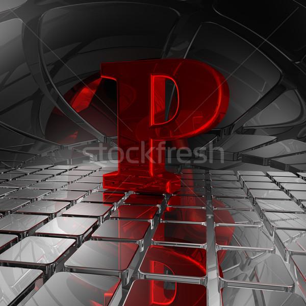 p in futuristic space Stock photo © drizzd