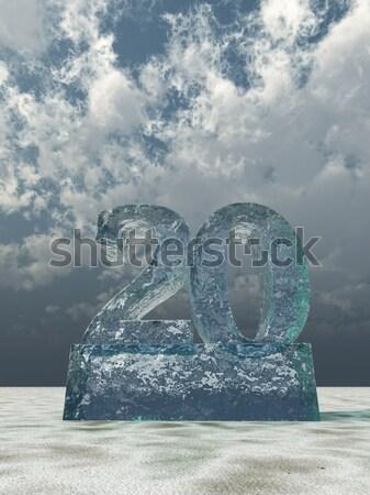 Congelada número vinte 3D 20 Foto stock © drizzd