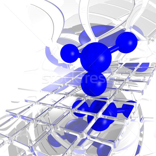 Futuristico spazio illustrazione 3d modello rete medicina Foto d'archivio © drizzd