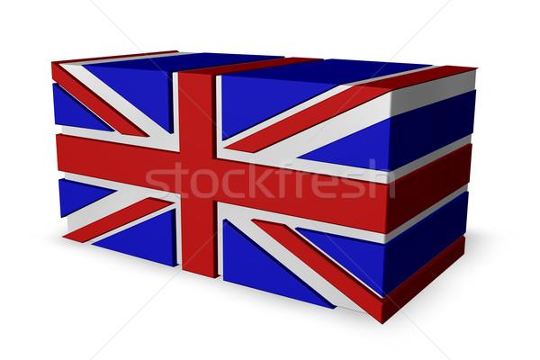 Union jack witte 3d illustration teken vak Rood Stockfoto © drizzd