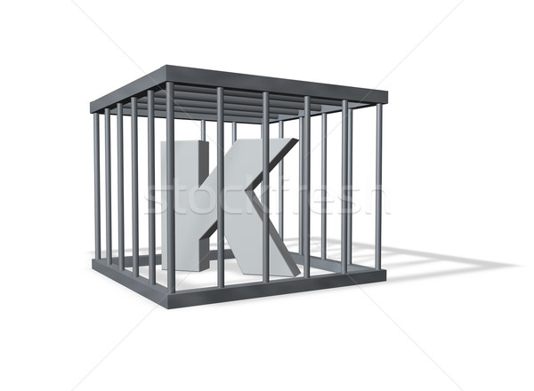 big K in a cage Stock photo © drizzd