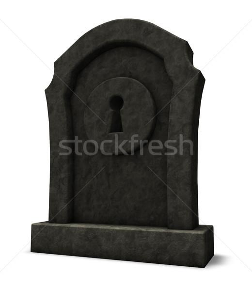 前方後円墳 墓石 3次元の図 セキュリティ 死 ロック ストックフォト © drizzd