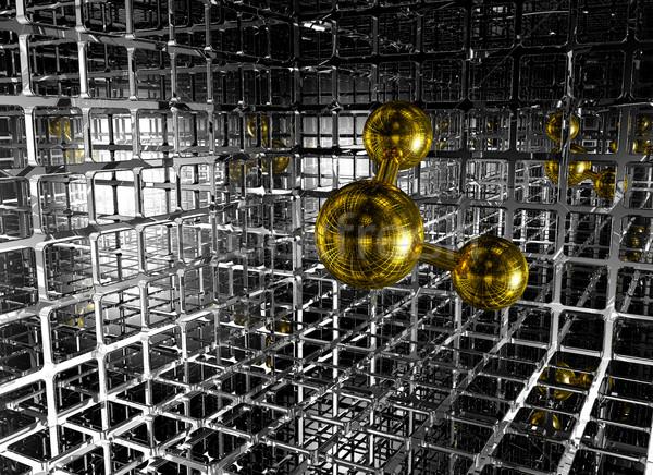 футуристический пространстве 3D модель сеть Сток-фото © drizzd