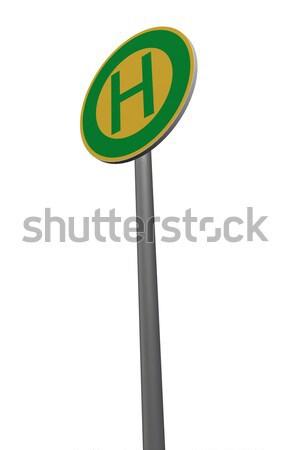 Otobüs durağı beyaz 3d illustration yol seyahat Stok fotoğraf © drizzd