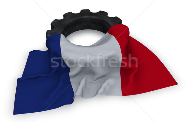 gear wheel and flag of france - 3d rendering Stock photo © drizzd