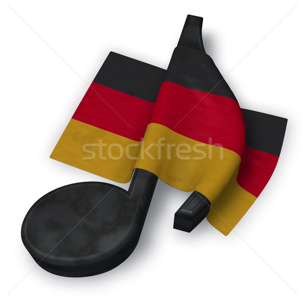 music note symbol and german flag - 3d rendering Stock photo © drizzd