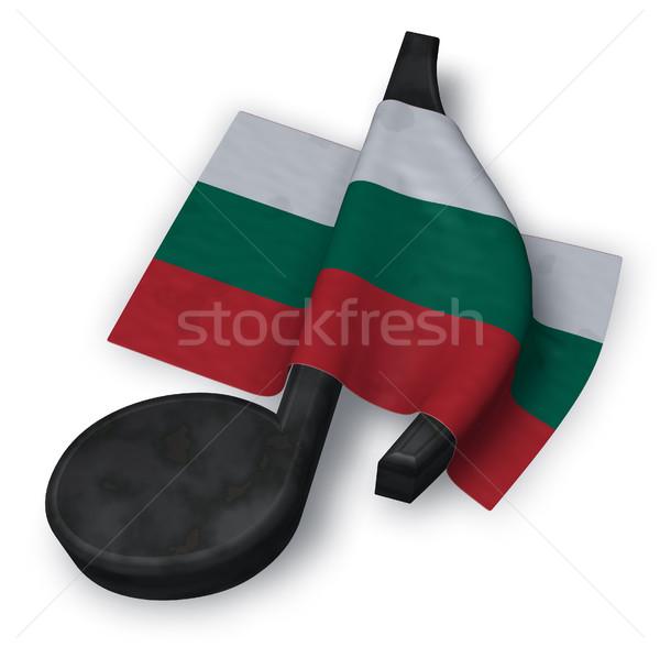 Zdjęcia stock: Muzyki · Uwaga · symbol · banderą · 3D