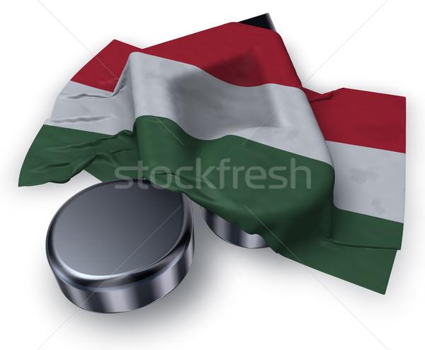 Müzik dikkat simge bayrak 3D Stok fotoğraf © drizzd