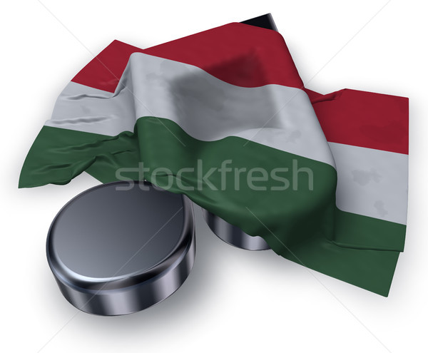 Muziek nota symbool hongaars vlag 3D Stockfoto © drizzd