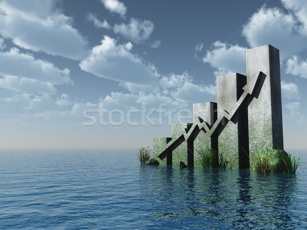 chart monument at the ocean Stock photo © drizzd