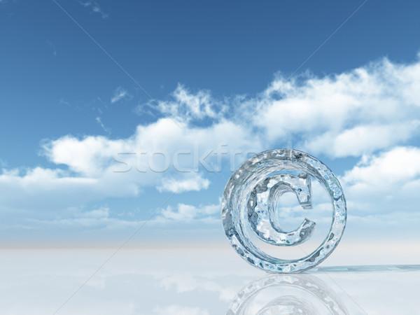 著作権 凍結 シンボル 曇った 青空 3次元の図 ストックフォト © drizzd