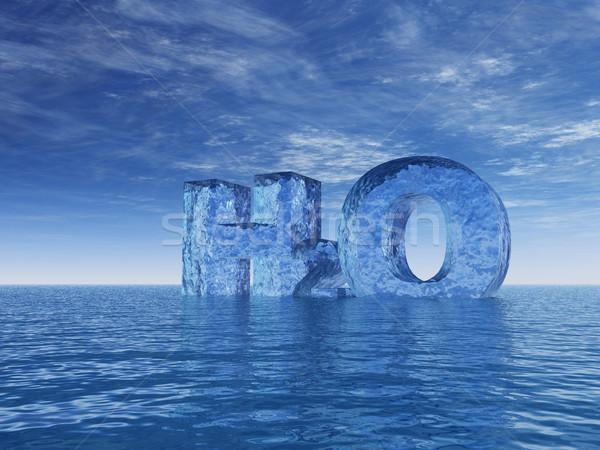 Kimya simge su harfler okyanus 3d illustration Stok fotoğraf © drizzd