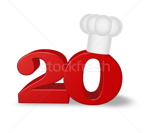 Número vinte cozinhar seis branco ilustração 3d Foto stock © drizzd