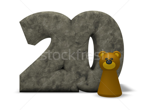stone number and bear Stock photo © drizzd