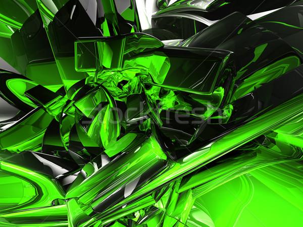 Chrom chaos futurystyczny metal 3d ilustracji streszczenie Zdjęcia stock © drizzd