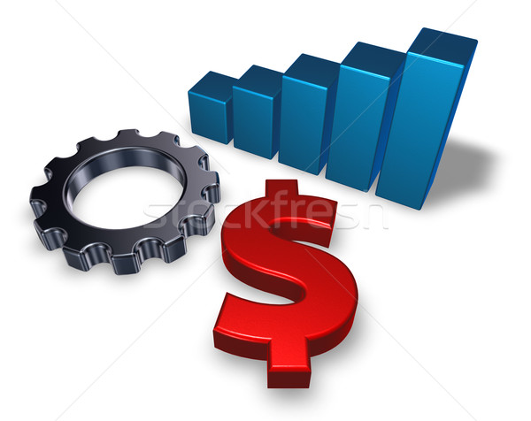 dollar symbol and gear wheel Stock photo © drizzd