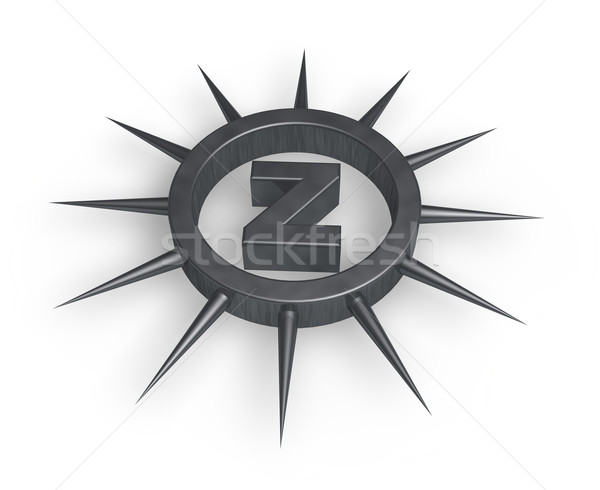 spiky letter z Stock photo © drizzd