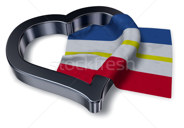 flag of mecklenburg-vorpommern and heart symbol - 3d rendering Stock photo © drizzd