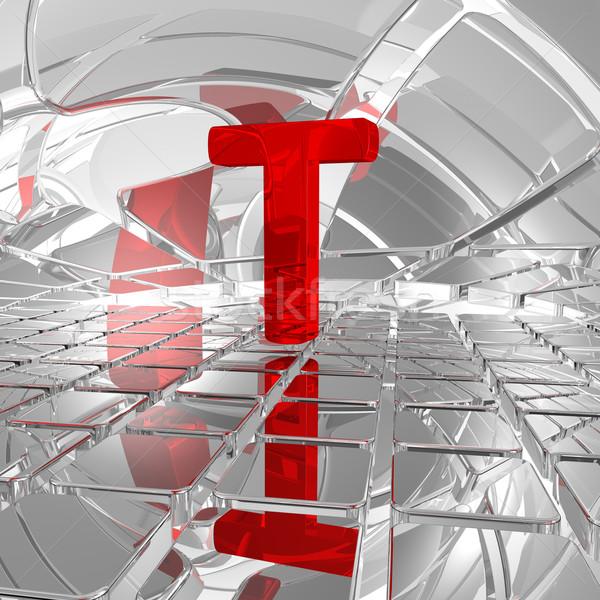 t in futuristic space Stock photo © drizzd