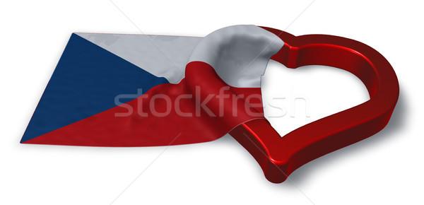 Bandera República Checa corazón símbolo 3D Foto stock © drizzd