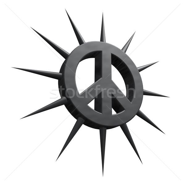 Stok fotoğraf: Barış · simge · Metal · savaş · Retro · protesto