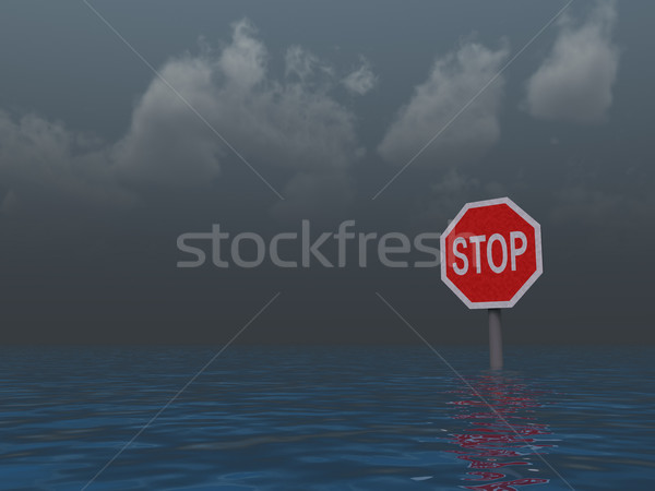 stop sign Stock photo © drizzd