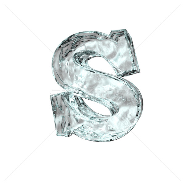 frozen letter S Stock photo © drizzd