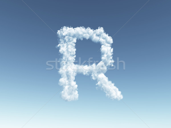 cloudy letter R Stock photo © drizzd