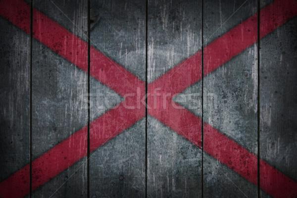 Алабама флаг старые рана стены Сток-фото © drizzd