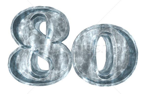 Congelada oitenta número branco ilustração 3d aniversário Foto stock © drizzd