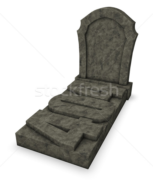 gravestone with number 404 - 3d rendering Stock photo © drizzd