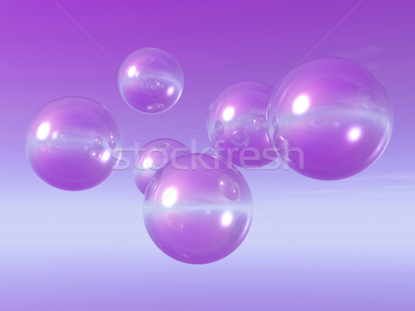 3d illustration - flying bubbles in the sky Stock photo © drizzd