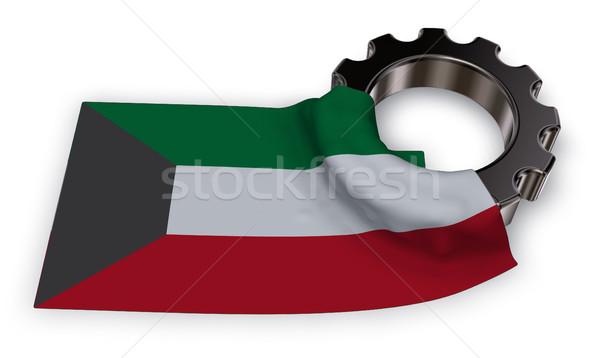 Engrenagem roda bandeira 3D assinar Foto stock © drizzd